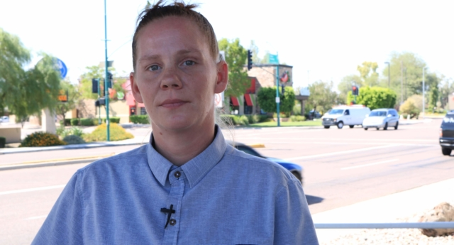 "Meagan Hunter said her Chili's manager told her to ""dress more gender appropriate"" for the promotion (ACLU of Arizona)"