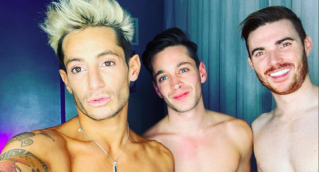 The throuple in happier times. (FrankieJGrande/Twitter)