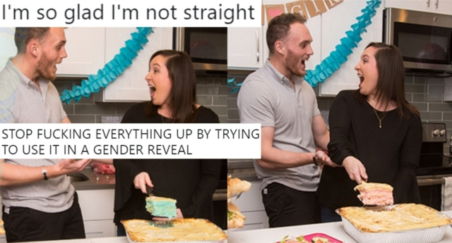 Villa Italian Kitchen's innovation of a gender reveal lasagna was ridiculed (Villa Italian Kitchen/facebook)