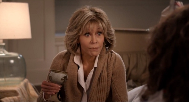 Grace and Frankie made viewers of season five question Grace's sexuality (Netflix)