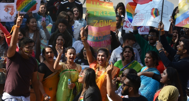 Years of campaigning eventually led to the decriminalisation of gay sex last year (DIPTENDU DUTTA/AFP/Getty)