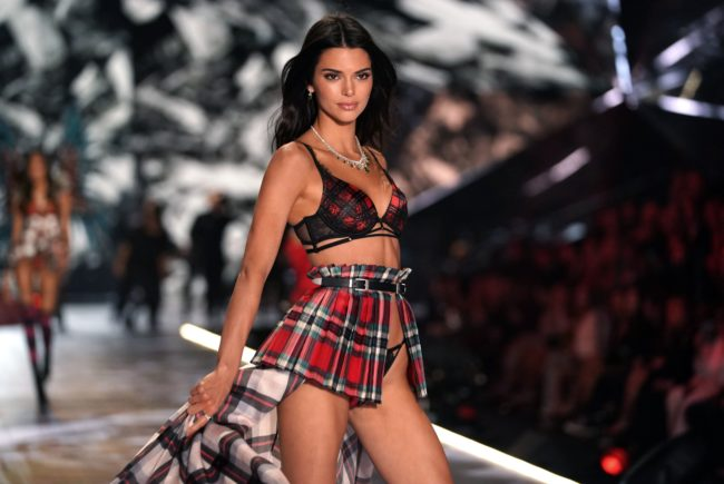 US model Kendall Jenner walks the runway at the 2018 Victoria's Secret Fashion Show