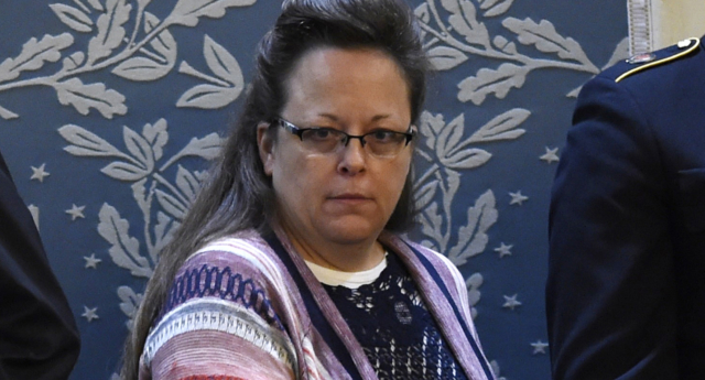 Kim Davis lost her bid for re-election as county clerk last year (SAUL LOEB/AFP/Getty)