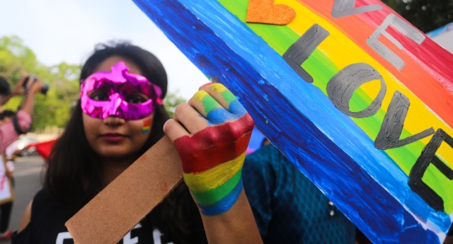 Lesbian women in India have had more rights since Section 377 was overturned (AFP/Getty)