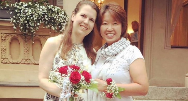 Lesbian partners Ai Nakajima and Kristina Baumann want same-sex marriage to be legal in Japan (Ai Nakajima/facebook)