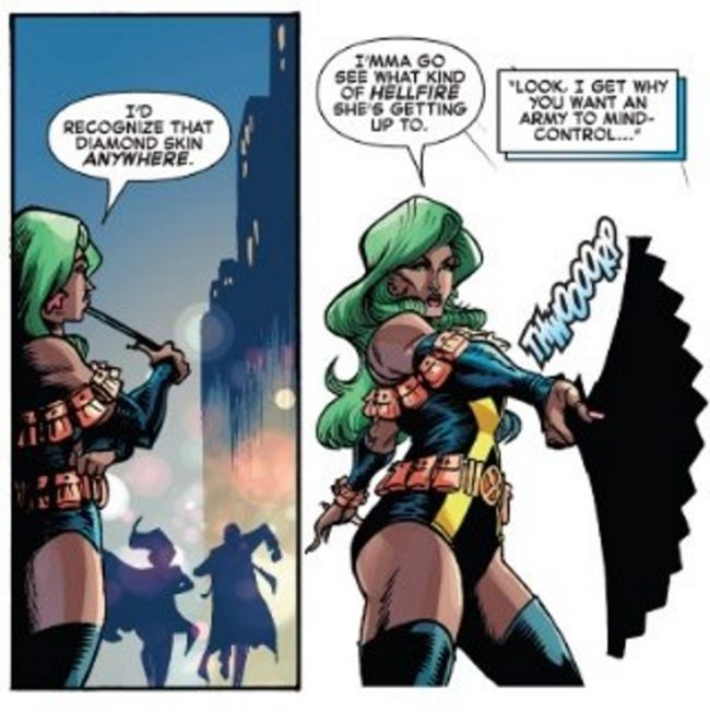 Shade features in this Marvel Comics panel from the Iceman series