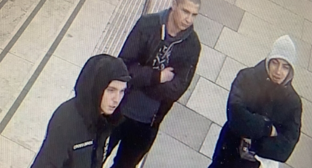 London's Metropolitan Police issued an appeal for three men