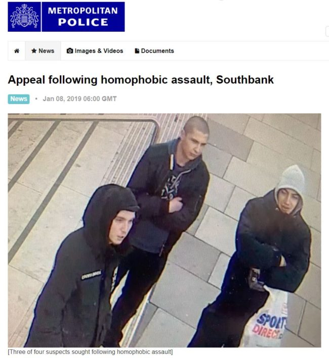 Homophobic assault appeal