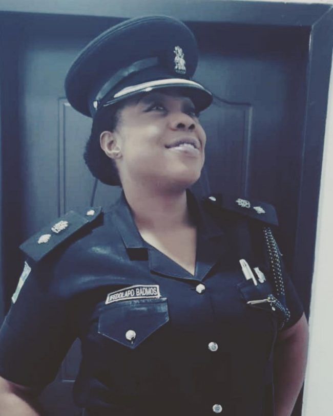 A photo of Dolapo Badmos, a police officer in Nigeria who has threatened gay people on Instagram