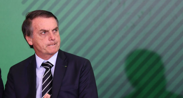Brazilian President Jair Bolsonaro took office on January 1, 2019. (Evaristo Sa/AFP/Getty)