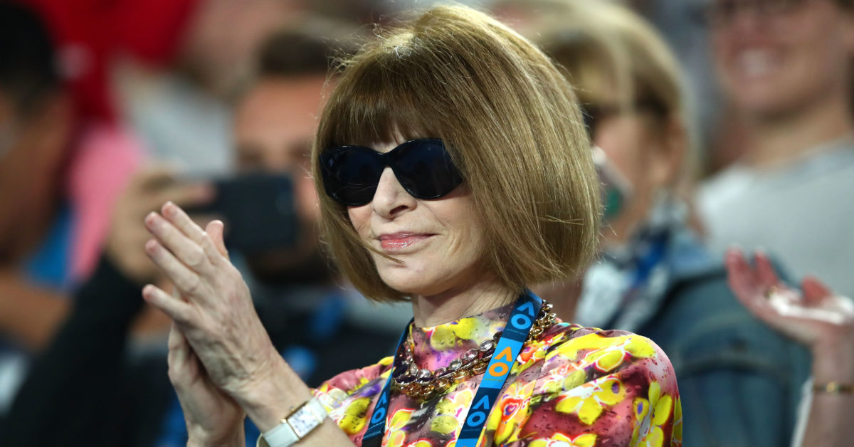 Anna Wintour joined calls to rename the Margaret Court stadium in view of the tennis champion's opposition to LGBT rights. (Cameron Spencer/Getty)
