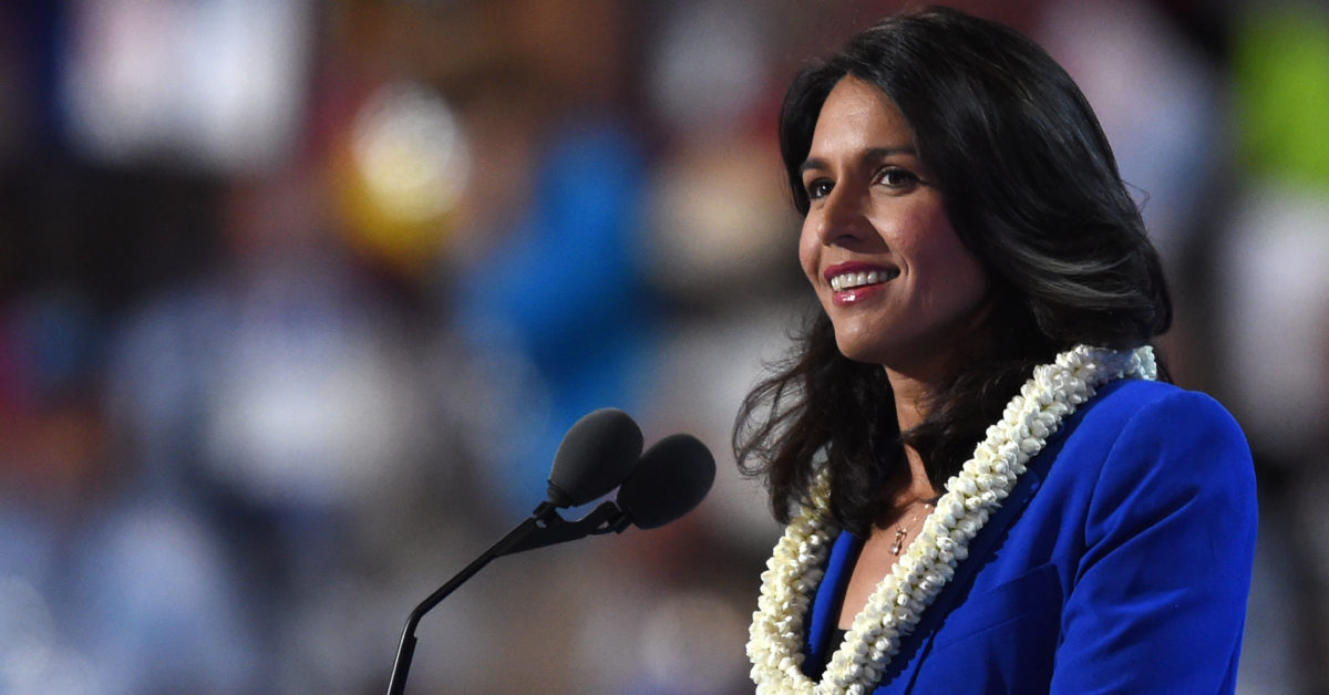 Democrat Tulsi Gabbard used to campaign against gay marriage