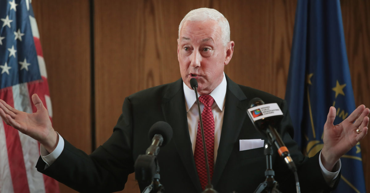 Greg Pence does not think his brother Mike nor is sister-in-law Karen Pence are anti-LGBT. (Scott Olson/Getty)