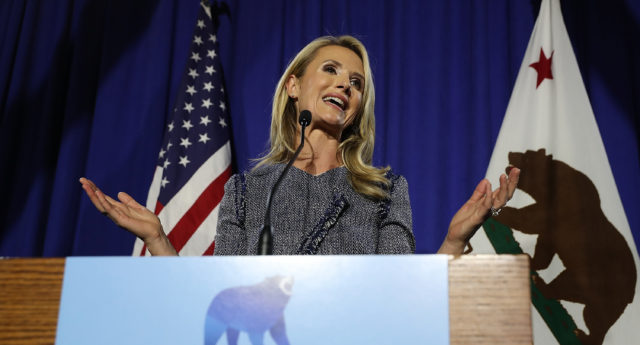 Jennifer Siebel Newsom has adopted the title of 'first partner' in a bid for equality. (Justin Sullivan/Getty)