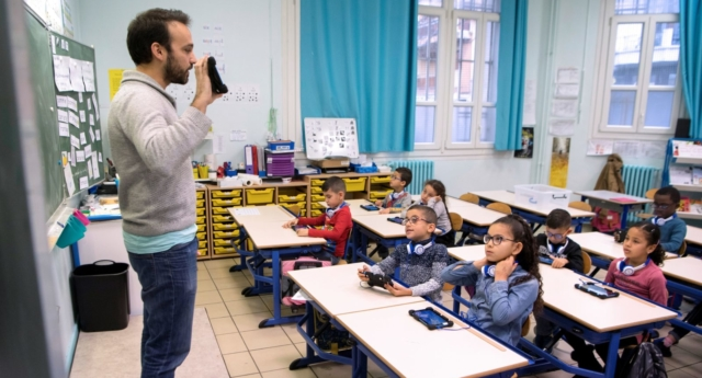 Over two thirds of teachers have had no grounding in LGBT+ issues, says a new survey. (BERTRAND LANGLOIS/AFP/Getty Images)