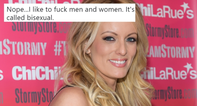 Stormy Daniels has revealed that she's bisexual on Twitter (Tara Ziemba/Getty and stormydaniels/twitter)