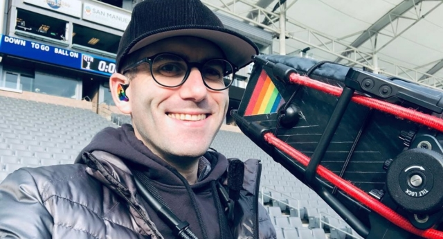 Scott Winer is set to become the first openly gay Super Bowl cameraman (littlescottie/instagram)