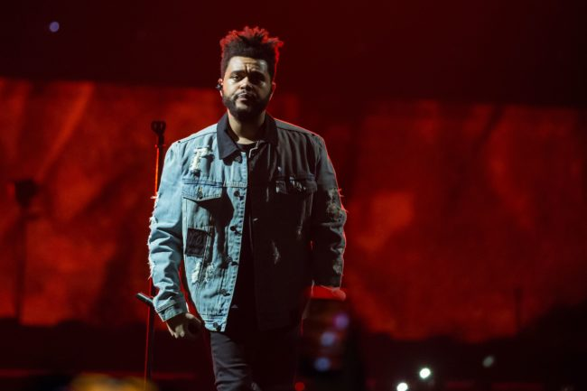 Recording artist The Weeknd performs on his Starboy: Legend of the Fall 2017 World Tour at the AT&T Center on October 19, 2017 in San Antonio, Texas