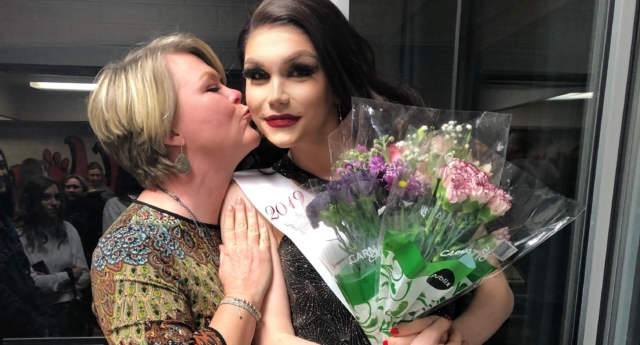 Charlie Baum, shown here with her mum, made history when she was crowned homecoming queen (Charlie Baum)