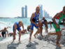 The Elite Men leave the water during the 2016 ITU World Triathlon Abu Dhabi on March 5, 2016 in Abu Dhabi, United Arab Emirates. (Warren Little/Getty)