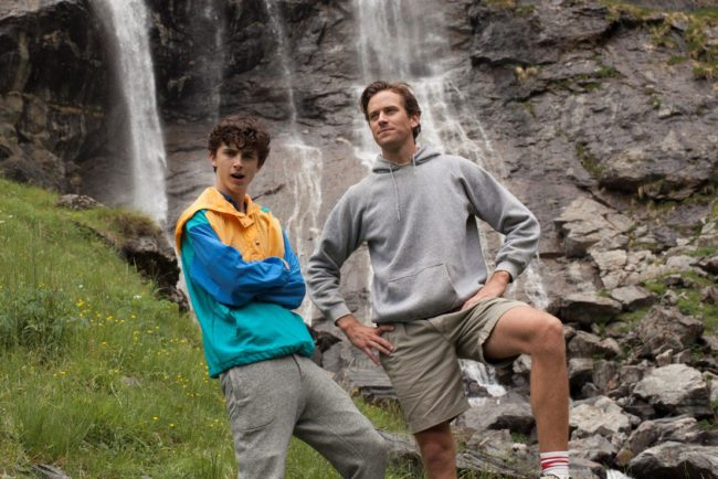 Timothée Chalamet and Armie Hammer behind the scenes on Call Me By Your Name