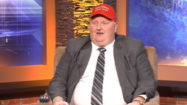 Republican lawmaker Eric Porterfield sported a 'Make America Great Again' hat during his interview with WWVA