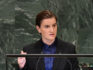 Serbian PM Ana Brnabic's gay partner Milica Djurdjic has given birth to a baby boy. (ANGELA WEISS/AFP/Getty Images)