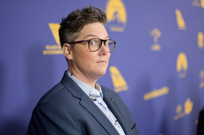 Hannah Gadsby attends the 7th Annual Australians in Film Awards Gala.