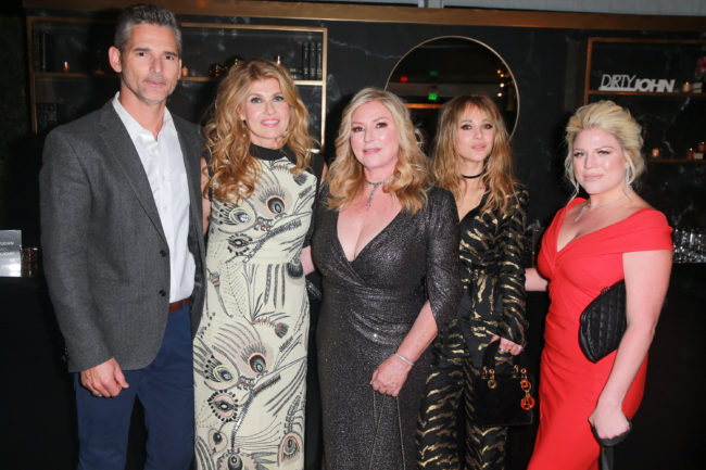 "Eric Bana, Connie Britton, Debra Newell, Juno Temple and Terra Newell attend the after party for Bravo's anthology series ""Dirty John"""