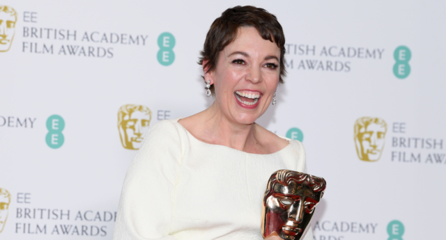 Winner of the Leading Actress award for The Favourite, Olivia Colman poses in the press room during the EE British Academy Film Awards at Royal Albert Hall on February 10, 2019 in London, England. (Pascal Le Segretain/Getty)