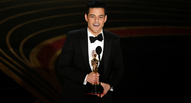 Rami Malek accepts the Actor in a Leading Role award for 'Bohemian Rhapsody' onstage during the 91st Annual Academy Awards at Dolby Theatre on February 24, 2019 in Hollywood, California. (Kevin Winter/Getty)