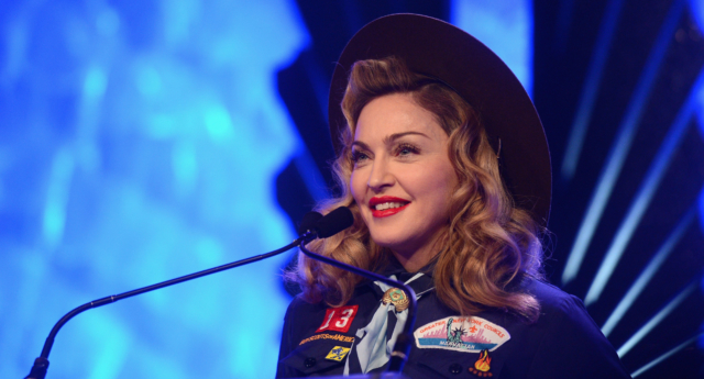 Madonna wore a Boy Scout's outfit to the 24th GLAAD Media Awards ceremony to protest the group's ban on LGBT+ people.  (Jamie McCarthy/Getty for GLAAD)