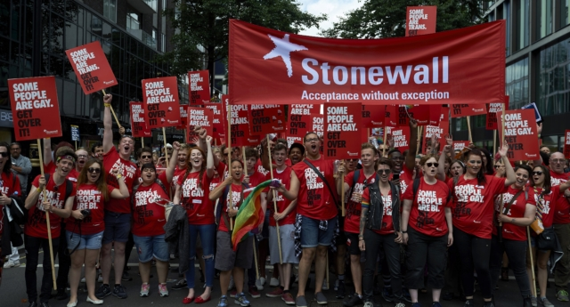 Stonewall, which supports trans rights as part of its mission to advocate for the LGBT+ community, says it has seen a 11% increase in donation between 2017 and 2018. (Nicklas Halle'n/AFP/Getty)