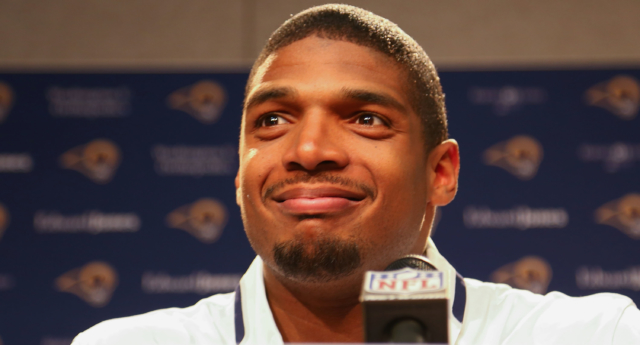 Michael Sam came out as gay in 2013, before the 2014 NFL draft in which he signed with the St. Louis Rams. (Dilip Vishwanat/Getty)