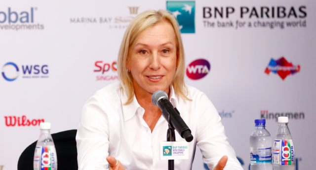 """LGBT group Athlete Ally cuts ties with tennis legends and lesbian icon Martina Navratilova condemning her """"transphobic"""" comments. (Julian Finney/Getty)"""