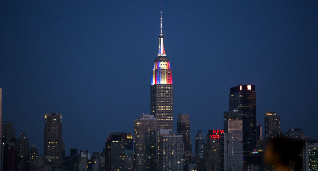 The couple will marry at the Empire State Building (KENA BETANCUR/AFP/Getty Images)