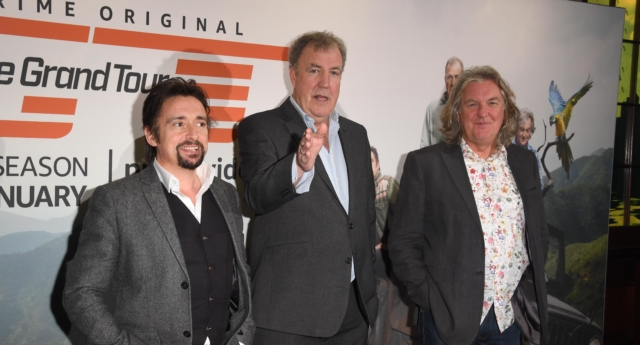Richard Hammond, Jeremy Clarkson and James May attend a screening of 'The Grand Tour' season 3 held at The Brewery on January 15, 2019 in London, England. (Stuart C. Wilson/Getty)