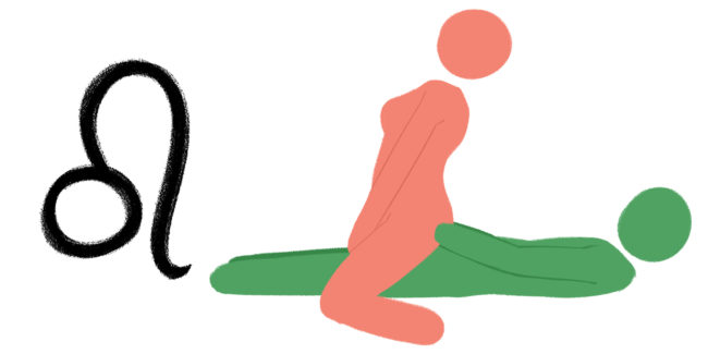 Best sex position for zodiac sign: Leo. Cowgirl. Reverse cowgirl. Cowboy position.