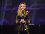 Madonna speaks on stage at the Billboard Women in Music 2016 event on December 9, 2016 in New York City.  (Nicholas Hunt/Getty for Billboard Magazine)