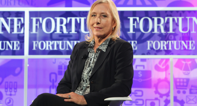 Tennis player Martina Navratilova speak onstage at the FORTUNE Most Powerful Women Summit on October 16, 2013 in Washington, DC.  ( Paul Morigi/Getty for FORTUNE)