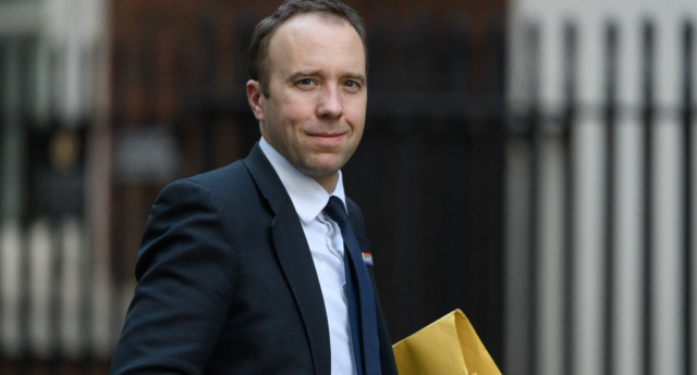 Health secretary Matt Hancock arrives in Downing Street on December 20, 2018 in London, England. (Leon Neal/Getty Images)