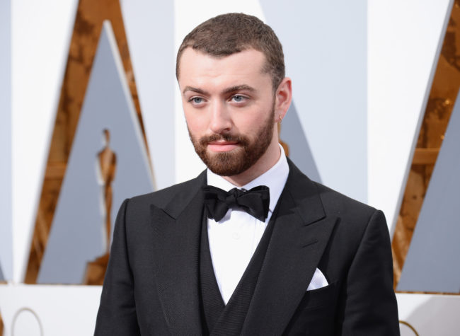 Sam Smith attends the 88th Annual Academy Awards at Hollywood & Highland Center on February 28, 2016 in Hollywood, California.