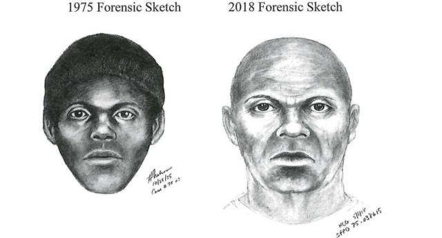 Police released sketches of The Doodler, including a mock-up of what he may look like today (San Francisco Police Department)