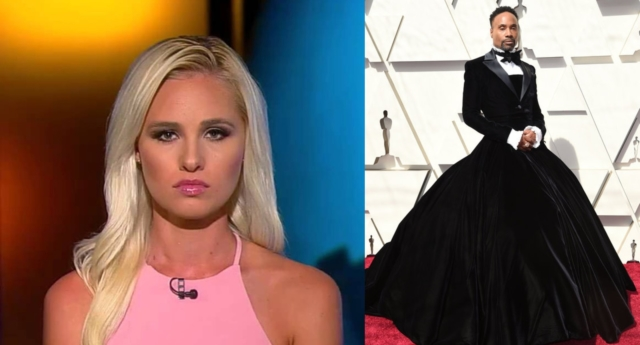 """Tomi Lahren says LGBT+ people are """"attacking traditional men"""" by wearing dresses  (Fox News/Frazer Harrison/Getty)."""