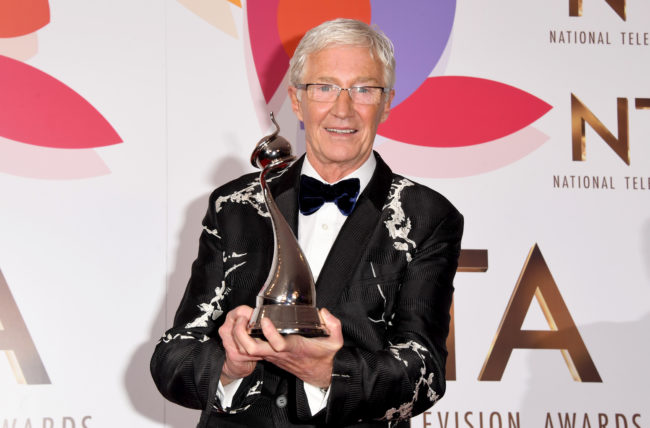 Reported new RuPaul's Drag Race UK judge Paul O'Grady with the award for Factual Entertainment Programme during the National Television Awards held at The O2 Arena on January 22, 2019 in London, England.