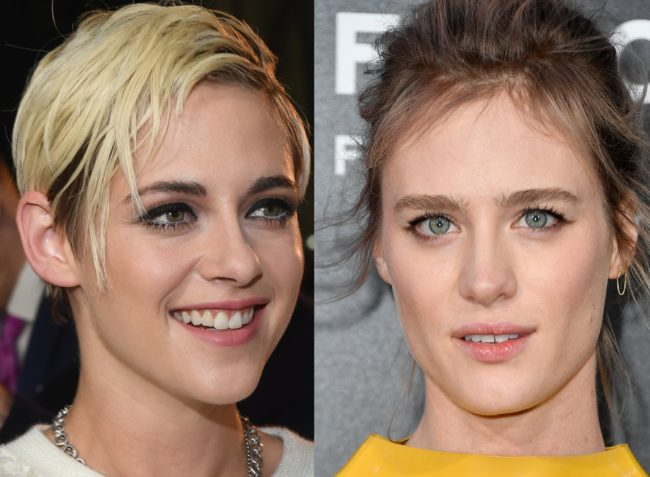 Photos of gay rom com stars Mackenzie Davis and Kristen Stewart, who are set to star in Happiest Season