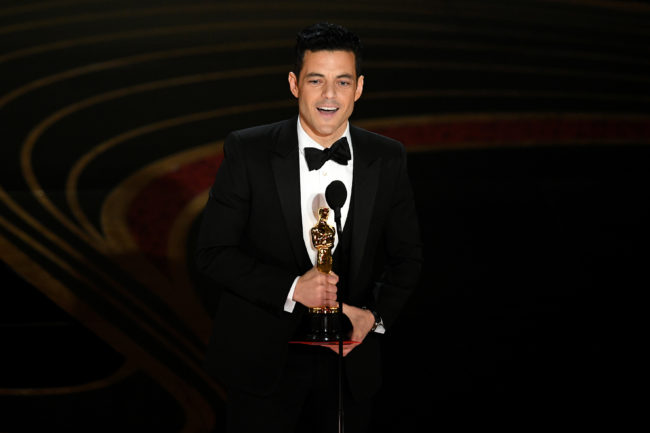 Rami Malek accepts the Actor in a Leading Role award for 'Bohemian Rhapsody'—which is set to be released in China—during the 91st Annual Academy Awards at Dolby Theatre on February 24, 2019 in Hollywood, California.