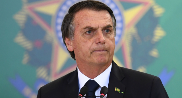 Brazilian President Jair Bolsonaro has repeatedly attacked LGBT+ people in his rhetoric (EVARISTO SA/AFP/Getty)