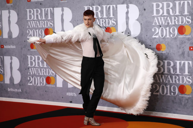 Olly Alexander from British group 'Years & Years' poses on the red carpet on arrival for the BRIT Awards 2019 in London on February 20, 2019.
