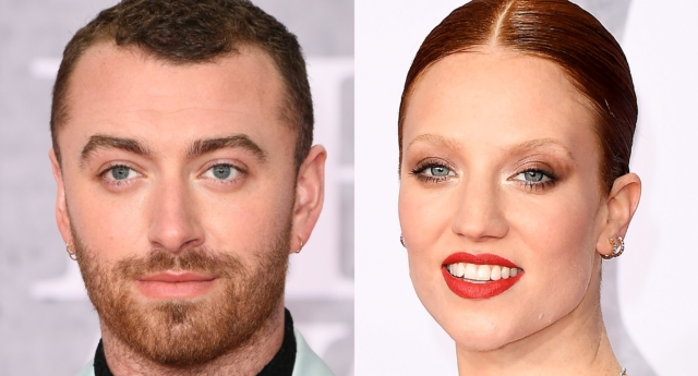 Sam Smith and Jess Glynne were in fine form on the BRIT Awards red carpet (Jeff Spicer/Getty)